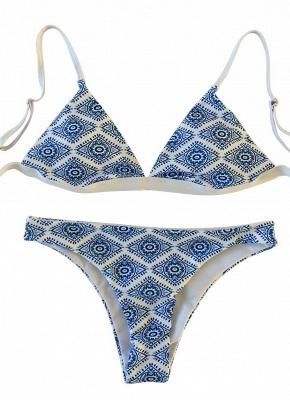 Geometric Print Wireless  Sexy Bikini Set_4