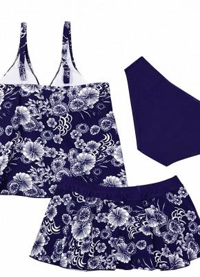 10xl Plus Size Floral Print Spaghetti Strap Summer Swimsuit_7