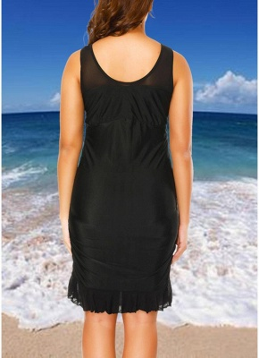 Plus Size Mesh Dress Bottom Tankini Set_4