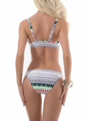 Women Geometric Print Strappy Two Piece Sexy Bikini Set_3