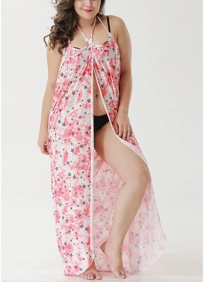 Beach Floral Printed Cover Up Sexy Bikini Cover-up Dress_4