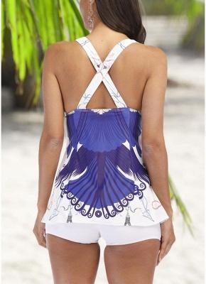 Tankini Push Up Swimsuit Two Piece Sexy Bikini_3