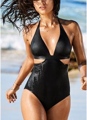 Halter Swimsuit Backless Beach Bathing Suit Monokini Biquini_1
