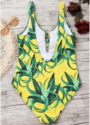 Women Push Up Swimsuit Backless Swimwear One Piece Bodycon Beach Bathing Suit_6