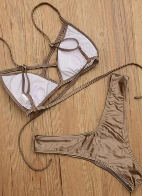 Backless Bandage Padded Wireless Sexy Bikini Set_7