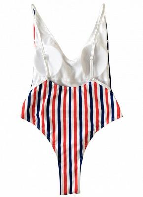 Women One Piece  Backless Padded Swimsuit Beach Wear_6