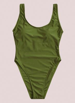 Scoop Neck Sleeveless Backless Monokini Swimwear_8