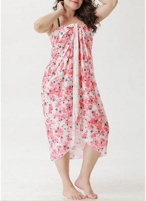 Beach Floral Printed Cover Up Sexy Bikini Cover-up Dress_3