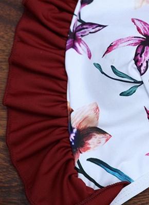 Women Floral Sexy Bikini Set Push Up Padded Bandage Swimsuit  Swimwear_5