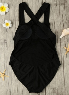 Backless Cross Strap Padded One Piece_5