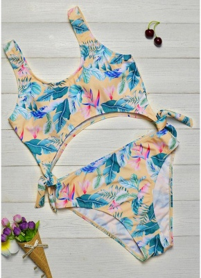 Printed Padded Hollow Out Monokini Bathing Suit_1