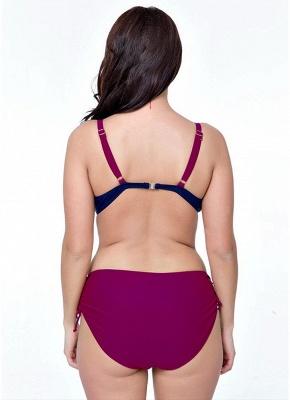 4xl Plus Size Colorblock Underwire Triangular Two Piece Sexy Bikini Set_3