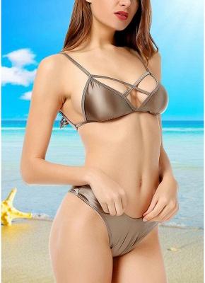 Backless Bandage Padded Wireless Sexy Bikini Set_3