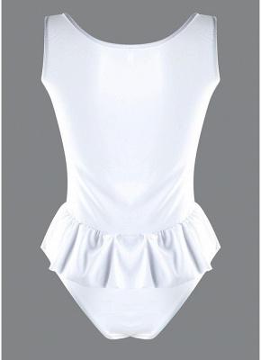 Women One Piece  Ruffle Monokini Swimsuit Brief Cut Solid Swimwear_4