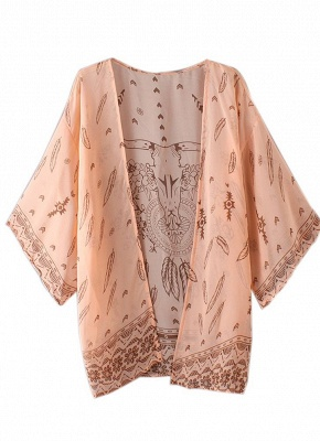 Women Summer Shirt Kimono Beach Cover Up Outerwear_5