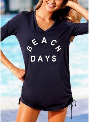 Women Beach Sexy Bikini Cover Up Tie Side Summer Dress Casual_2