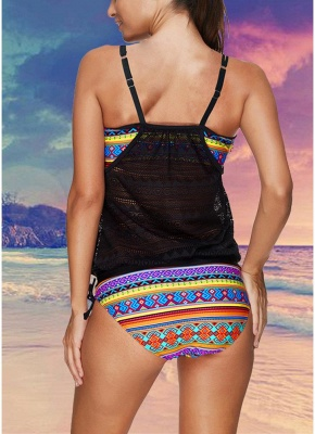 New  Women Strappy Sexy Bikini Set Spaghetti Strap Backless Low Waist Thong Biquini  Swimsuit Black_3