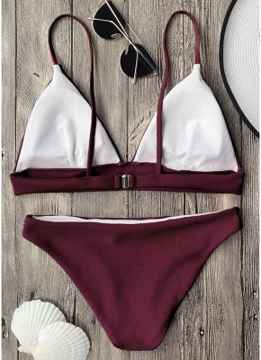Solid Brazilian Push Up Padded Sexy Bikini Set_3