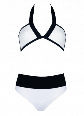 Women Sexy Bikini Set Color Splice Wireless Swimwear Swimsuits Two Piece_5