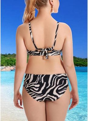 Floral Spaghetti Strap Backless Low Waist Strappy Sexy Bikini Set_6