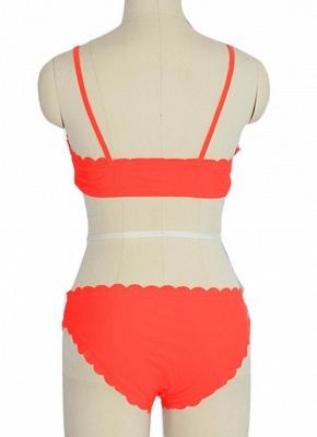 Solid Color Push-Up Padded Top Bottom Sexy Bikini Set_4