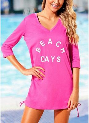 Women Beach Sexy Bikini Cover Up Tie Side Summer Dress Casual_1
