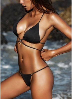 Women Wraparound Halter Thong Sexy Bikini Set Leopard Snakeskin Pattern Swimwear Push Up Swimsuit_6