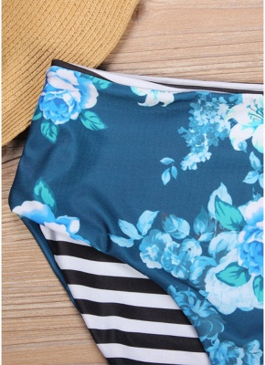 Women Floral Printed Sexy Bikini Set Swimsuit  Underwire Padded Beach Wear_9