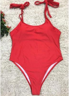 Women One Piece Swimsuit  Print Bodysuit Bandage Beach Wear Swimwear Backless Monokini_1