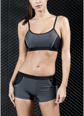 Sports Splicing Professional Racing Two Piece Swimsuit_3