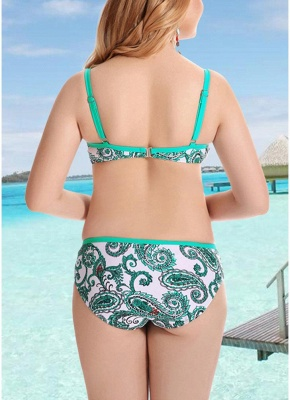 Women Plus Size  Sexy Bikini Set Underwire Swimsuit Beach Wear Two Piece_4