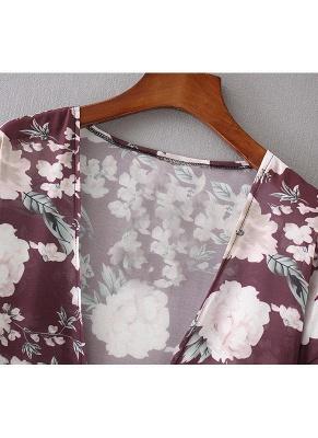 Women Long Beach Cover Up Chiffon Kimono_6