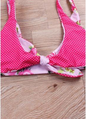 Women Sexy Bikini Set Floral Dot Print Swimwear Beach Wear Two Piece_3