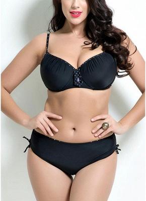 Plus Size Solid Underwired Sexy Bikinis_1