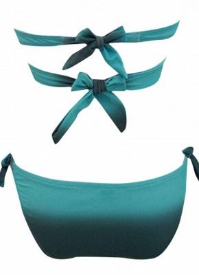 Gradient Cross Halter Tie Strap Backless Push Up Bandage Sexy Bikini Set_4