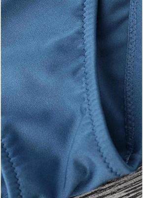 Solid Color Halter Bandage Tie Sexy Bikini Set_7