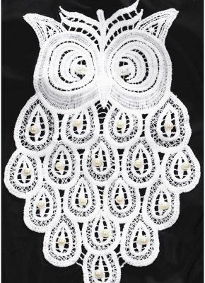 Crochet Owl Pattern Beading Backless Sleeveless One Piece Swimsuit_6