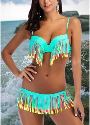 Fringe Tassel Brazilian Push UpSexy Bikini Set_3