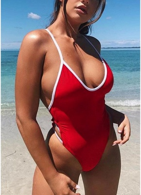 Women One Piece  Bandage Monokini Backless Swimsuit Beach Wear_1
