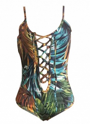 Printed Lace Up Swimsuit Cover-Up SO1550_5