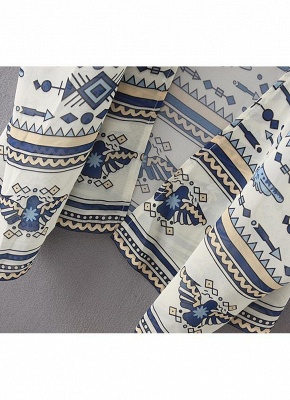 Summer Chiffon Printed Women's Long Loose Thin Kimono_8
