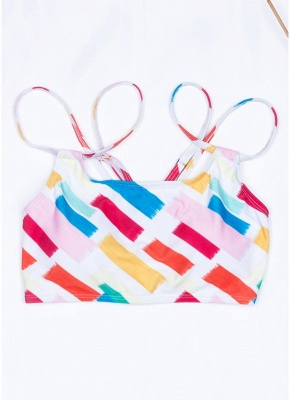 Women Print Sexy Bikini Set Spaghetti Strap Push Up Padded Swimsuit Swimwear Bathing Suit_4