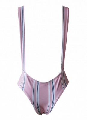 Striped Printed Backless One Piece Swimwear_6