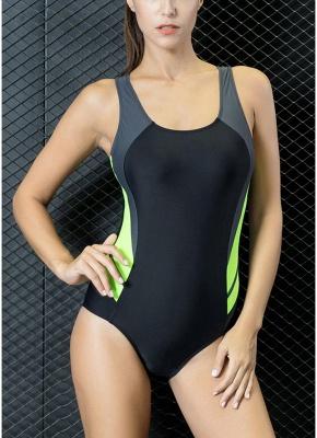 Women Professional Sports One Piece Swimsuit  Brazilian Swimwear Beachwear_2