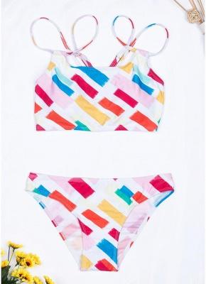Women Print Sexy Bikini Set Spaghetti Strap Push Up Padded Swimsuit Swimwear Bathing Suit_1
