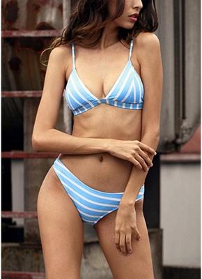 Women Striped Sexy Bikini Set Backless Low Waist Summer Beach Bathing Suit Swimwear_1