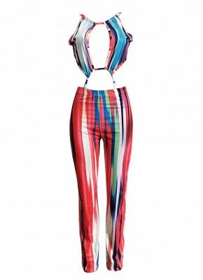 Boho Print Lace-Up Sleeveless Backless Wide-Leg Jumpsuit_4