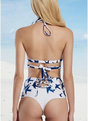 Women Sexy Bikini Set Swimsuit High Waist Bandage Two Piece Swimwear Bathing Suit_3
