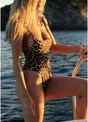 Women One Piece Swimsuit  Print Bodysuit Bandage Beach Wear Swimwear Backless Monokini_4