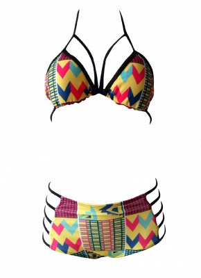 Women Sexy Bikini Set Printed Swimwear Swimsuit Padded Two Piece Bathing Suit Beachwear_3